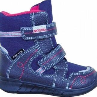 Protetika obuv dívčí zimní s PROtex membránou DENERIS NAVY