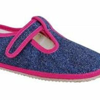 Protetika papuče dívčí Barefoot RAVEN NAVY