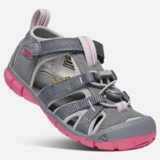 Keen Dětské sandály SEACAMP II CNX K steel grey/rapture rose