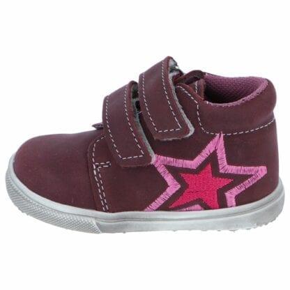 JONAP dívčí celoroční barefoot obuv JONAP 022mv - vínová hvězda