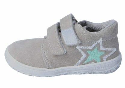 JONAP dětská celoroční barefoot obuv B1/S/V - hvězda šedá