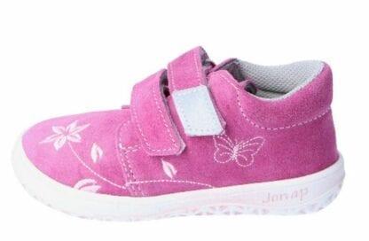 JONAP dětská celoroční barefoot obuv B1/S/V - květ růžová