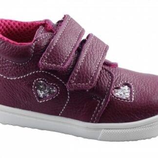 JONAP dívčí celoroční obuv J022/M/V - srdce vínová