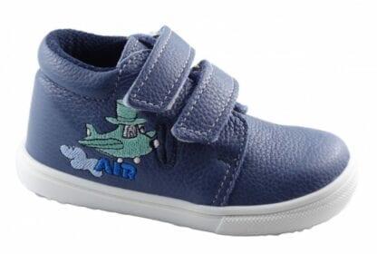 chlapecká celoroční obuv J022/M/V - letadlo modrá