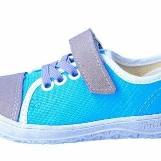 chlapecká teniska barefoot J-B15-Airy šedá/tyrkys