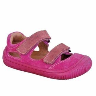 dívčí boty sandály Barefoot BERG PINK