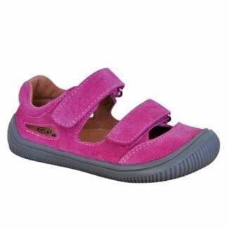 dívčí boty sandály Barefoot BERG FUXIA
