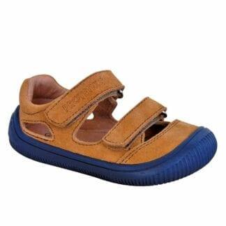 chlapecké boty sandály Barefoot BERG BEIGE