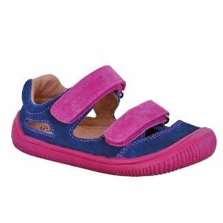 dívčí boty sandály Barefoot BERG BLUE