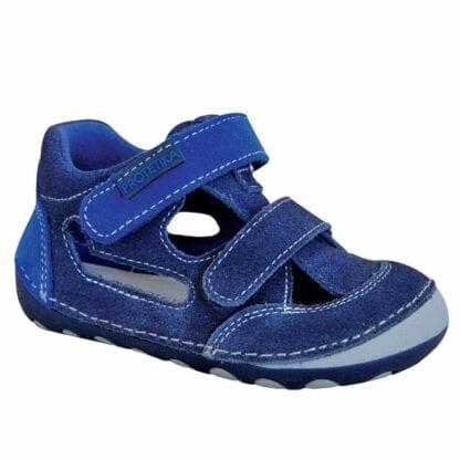 chlapecké boty sandály Barefoot FLIP MARINE