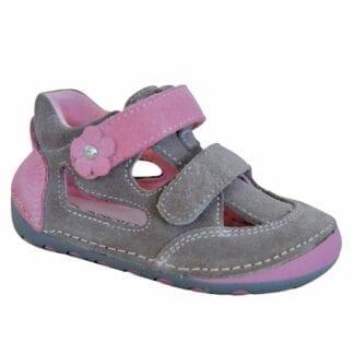 dívčí boty sandály Barefoot FLIP TAUPE