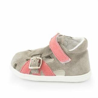 dětské sandály J009/S šedá/růžová