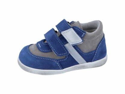 chlapecká celoroční barefoot obuv J051/S/V modrá/šedá